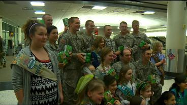 Troops Homecoming Sweetened By Local Girl Scouts
