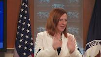 """Let's not talk about"" Syrian red line, Psaki says"