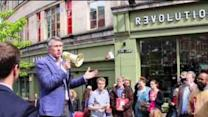 Actor Steve Coogan Hits the Campaign Trail for Labour