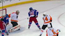 Mats Zuccarello cleans up rebound for goal