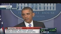 Obama: Iran's economy crippled by sanctions