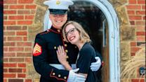 Marine Surprises Girlfriend at Front Door to Pop the Question