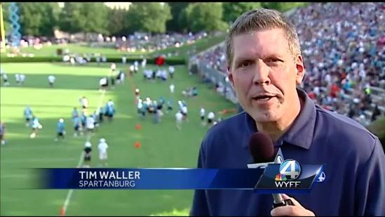 The Carolina Panthers return to Spartanburg for training camp