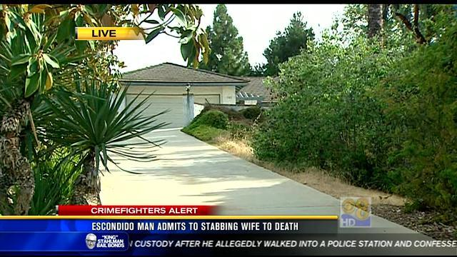 Escondido man admits to stabbing wife to death