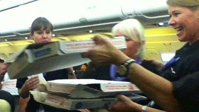Meet the pilot who bought pizzas for stranded passengers