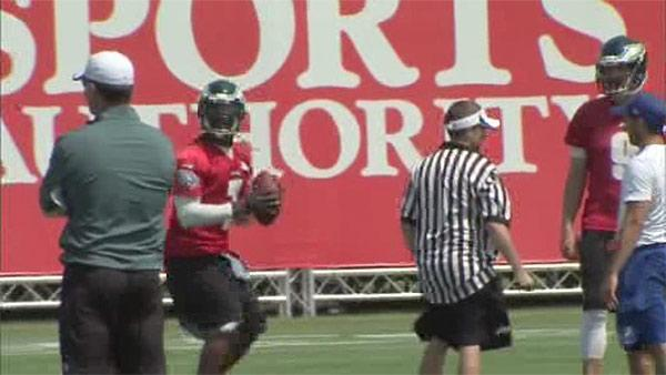 First day of practice at Eagles training camp