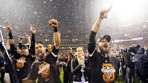 Fans celebrate after Giants win NL pennant