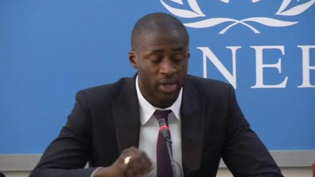 Toure launches UN anti poaching initiative, refuses to talk about racism