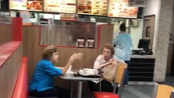 e8eee1d69987e Elderly women kicked out of Burger King for telling manager, 'Speak your  Mexican at home...this is America'