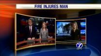 Elderly Man Critically Hurt In Fire
