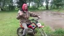 Motorbike Fan Creates His Very Own Mower
