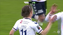 Jesper Lange with a perfectly timed volley!