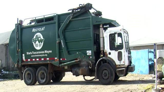 Garbage truck used to cause vandalism