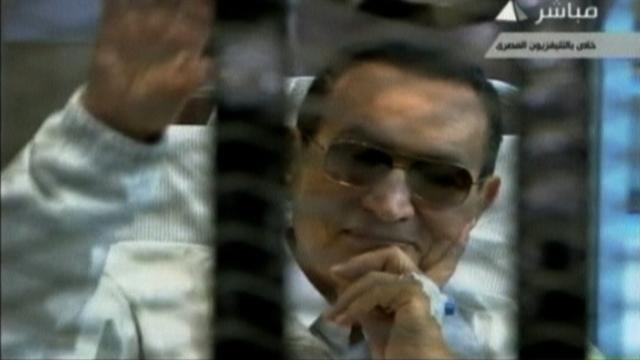 Mubarak public appearance in court