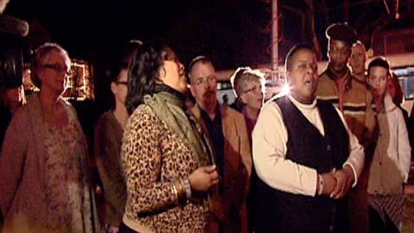 Prayer vigil held for victims of home invasion
