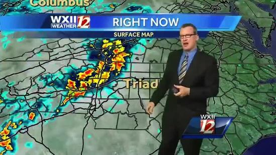 Brian Slocum: Few Storms Possible