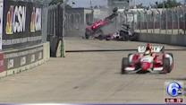 Dramatic airborne crash at Houston Grand Prix