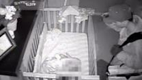 Caught on Tape: Intruder on Surveillance Over Baby's Crib