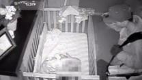 Caught on Tape: Intruder on Surveillance Over Baby's Crib