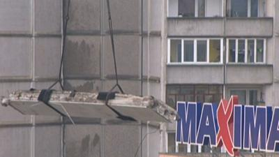 Raw: Latvia Grocery Roof Collapse Kills 30+