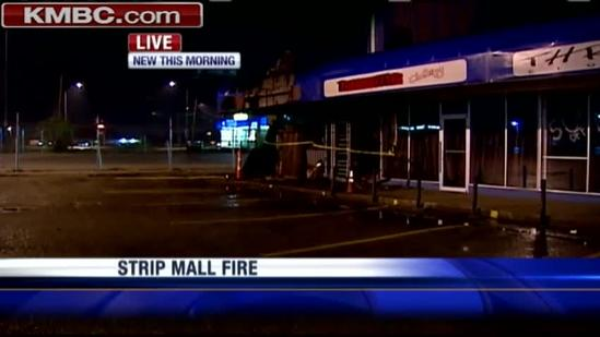 Fire damages KC strip mall