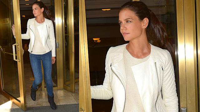 Katie Holmes Shops Kohl's - Buy Her Jacket Now!