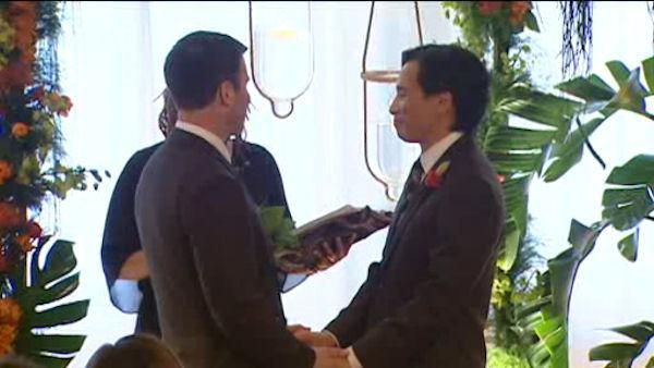 Same-sex marriage supporters rally in New Jersey