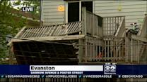 Four Injured In Evanston Porch Collapse