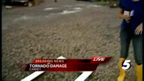 Tornado damage extensive in Carney, Okla.