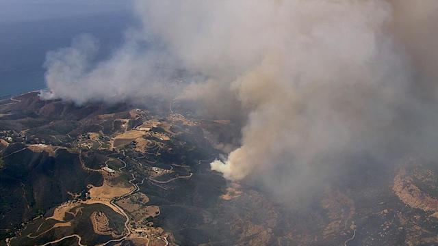 Aerial view of Springs Fire from AIR7 HD
