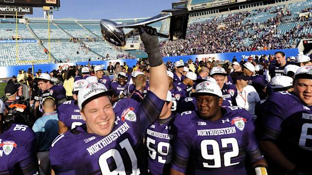 Northwestern celebrating first bowl win since 1949