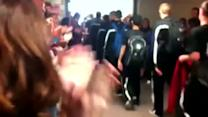 Borden fans send team off to state championship