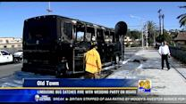Limousine bus goes up in flames in Old Town