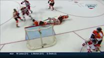 Jeff Skinner scores on a crazy bounce