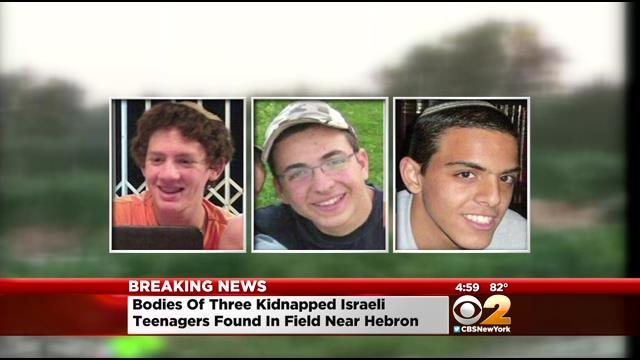 Missing Israeli Teenagers Found Dead In The West Bank