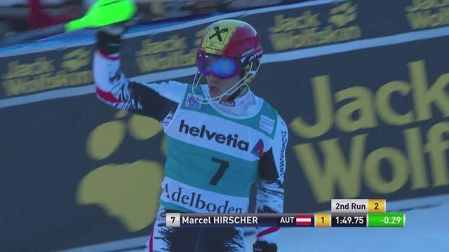 Adelboden World Cup slalom: Marcel Hirscher finishes first