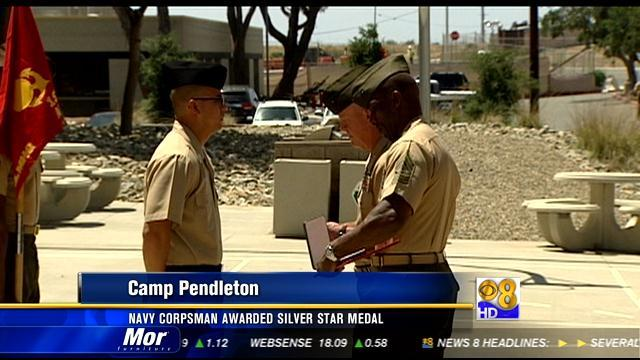 Navy corpsman awarded Silver Star Medal
