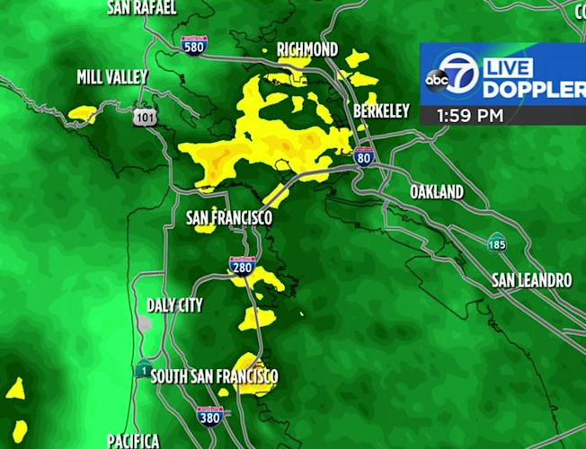 Accuweather Forecast: Rain soaking Bay Area ahead of bigger storm tomorrow