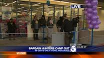 Bargain Hunters Camp Out for 99-Cent TVs