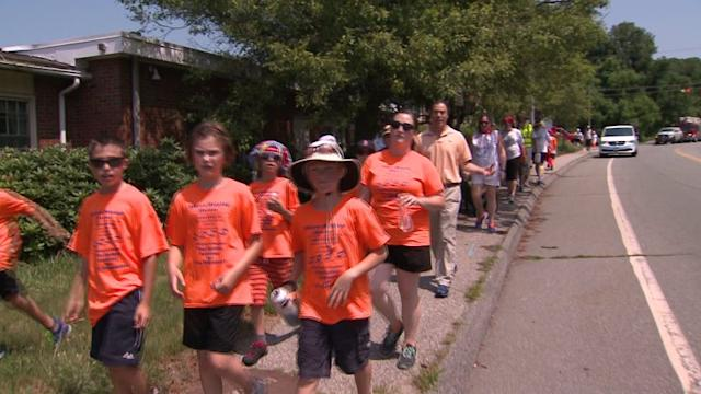 Kids Walk 100 Miles to Raise Money for First Responders