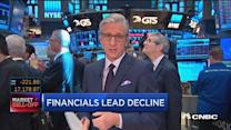 Financials lead declines at market open