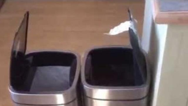 Dad Can't Stop Laughing at Electric Trash Cans