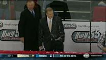 NHL Live: Brian Engblom gets sprayed