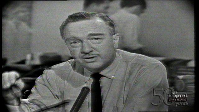 Cronkite breaks news of President Kennedy's death