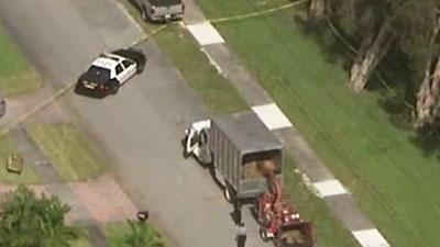 Raw: Worker Killed by Wood Chipper Near Miami