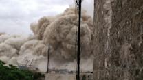 Raw: Syrian Rebels Claim Massive Aleppo Bombing