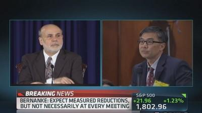 Bernanke: Quantitatively, ending benefits not economicall...