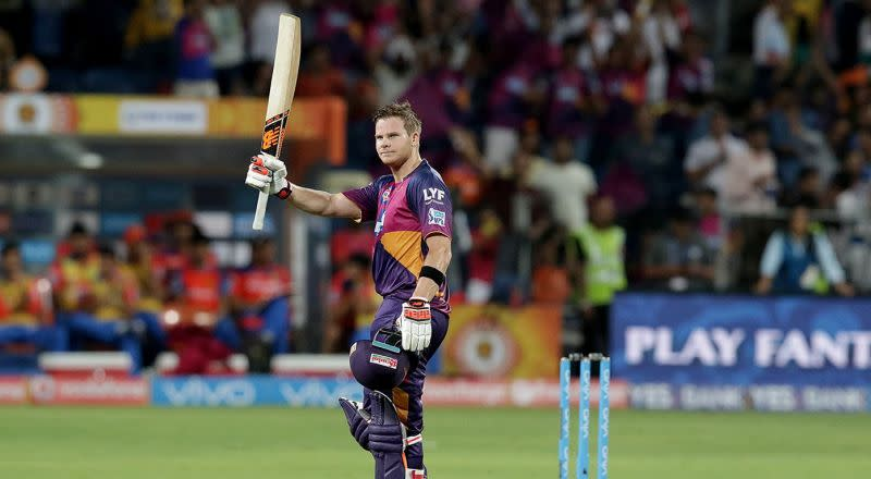 Steve Smith's first ever IPL 100 came playing for the Rising Pune SuperGiants