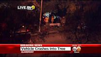 2 Transported After Vehicle Crashes Into Tree In Claremont