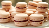 French Rose-Raspberry Macarons